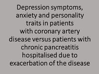 Depression symptoms, anxiety and personality traits in patients with coronary artery disease versus patients with chronic pancreatitis