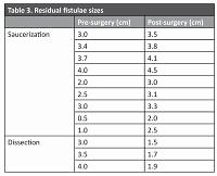 Saucerization versus dissection on the repair of vesicovaginal fistulae