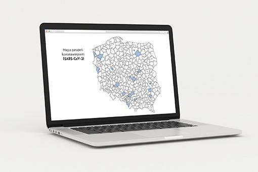 Internetowa Mapa Zarazen Koronawirusem Sars Cov 2 W Polsce